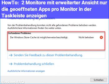 HowTo 2 Monitore mit erweiterter Ansicht: nur die geöffneten Apps pro Monitor in der Taskleiste anzeigen?