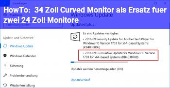 HowTo 34 Zoll Curved Monitor als Ersatz für zwei 24 Zoll Monitore