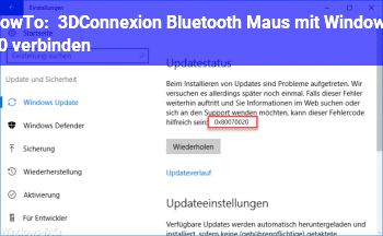 HowTo 3DConnexion Bluetooth Maus mit Windows 10 verbinden