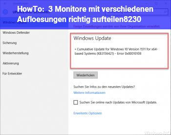 HowTo 3 Monitore mit verschiedenen Auflösungen richtig aufteilen…