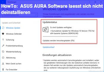 HowTo ASUS AURA Software lässt sich nicht deinstallieren