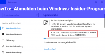 HowTo Abmelden beim Windows-Insider-Programm