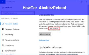 HowTo Absturz/Reboot