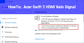 HowTo Acer Swift 3 HDMI Kein Signal