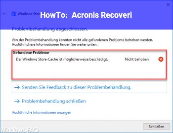 HowTo Acronis Recoveri