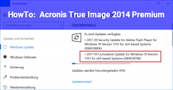 HowTo Acronis True Image 2014 Premium