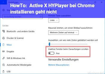 Active X (HYPlayer) bei Chrome installieren geht nicht - Windows 10 Net