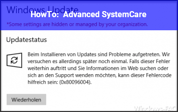 HowTo Advanced SystemCare