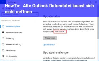 HowTo Alte Outlook Datendatei lässt sich nicht öffnen