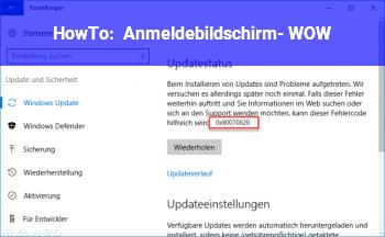 HowTo Anmeldebildschirm- WOW