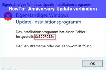 HowTo Anniversary-Update verhindern