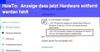 HowTo Anzeige dass jetzt Hardware entfernt werden fehlt