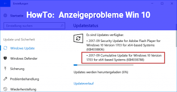 HowTo Anzeigeprobleme Win 10
