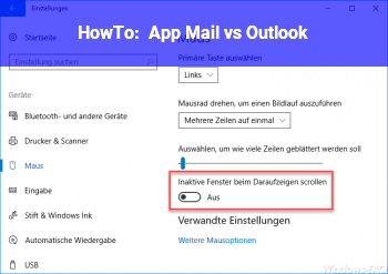 HowTo App Mail vs. Outlook