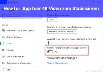 HowTo App für 4K Video zum Stabilisieren ?