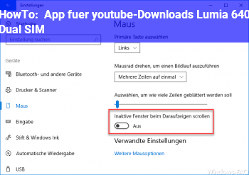 HowTo App für youtube-Downloads (Lumia 640 Dual SIM)