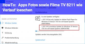 """HowTo Apps """"Fotos"""" sowie """"Filme & TV"""" – wie Verlauf löschen?"""