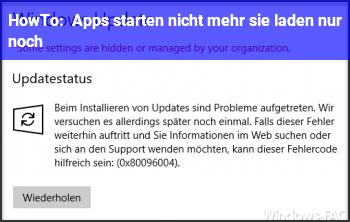 HowTo Apps starten nicht mehr sie laden nur noch