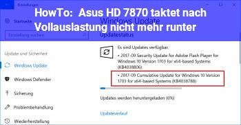 HowTo Asus HD 7870 taktet nach Vollauslastung nicht mehr runter