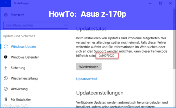HowTo Asus z-170p