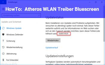 HowTo Atheros WLAN Treiber Bluescreen