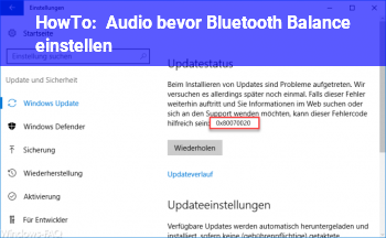 HowTo Audio bevor Bluetooth Balance einstellen