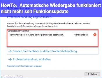 """HowTo Automatische Wiedergabe funktioniert nicht mehr seit """"Funktionsupdate"""""""