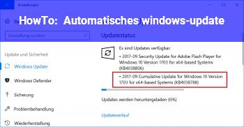 HowTo Automatisches windows-update
