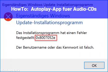 HowTo Autoplay-App für Audio-CDs