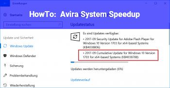 HowTo Avira System Speedup