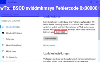 HowTo BSOD: nvlddmkm.sys, Fehlercode 0x00000116