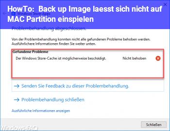 HowTo Back up Image lässt sich nicht auf MAC Partition einspielen