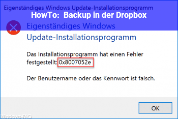 HowTo Backup in der Dropbox