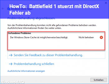 Battlefield 1 Fehler