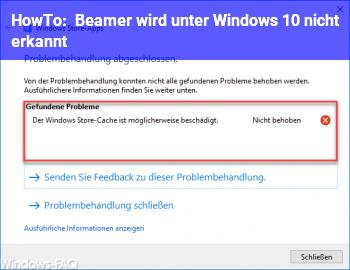HowTo Beamer wird unter Windows 10 nicht erkannt