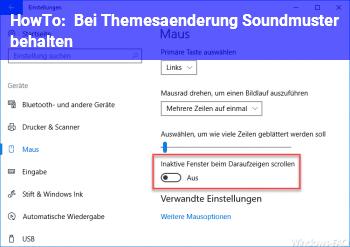 HowTo Bei Themesänderung Soundmuster behalten
