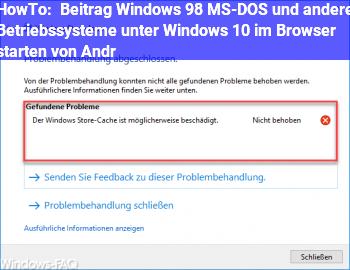 """HowTo Beitrag """"Windows 98, MS-DOS und andere Betriebssysteme unter Windows 10 im Browser starten"""" von Andr"""