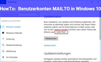 HowTo Benutzerkonten & MAILTO in Windows 10