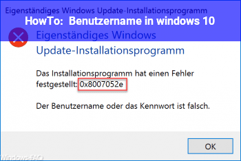 HowTo Benutzername in windows 10