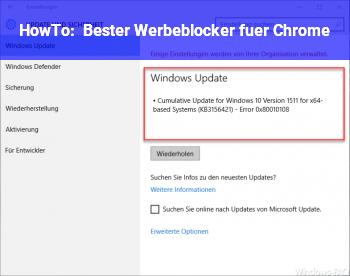 HowTo Bester Werbeblocker für Chrome