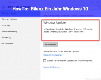 HowTo Bilanz: Ein Jahr Windows 10