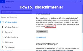 HowTo Bildschirmfehler