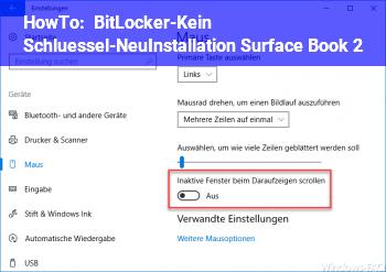 HowTo BitLocker-Kein Schlüssel-NeuInstallation (Surface Book 2)