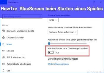 HowTo BlueScreen beim Starten eines Spieles