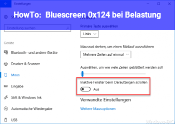 HowTo Bluescreen 0x124 bei Belastung