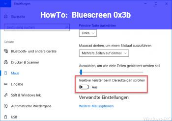 HowTo Bluescreen 0x3b