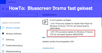 HowTo Bluescreen Drama fast gelöst!