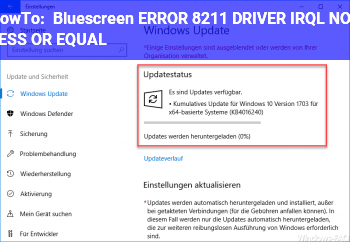 HowTo Bluescreen ERROR – DRIVER_IRQL_NOT_LESS_OR_EQUAL
