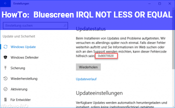 HowTo Bluescreen: IRQL_NOT_LESS_OR_EQUAL