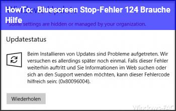 HowTo Bluescreen (Stop-Fehler 124) Brauche Hilfe!